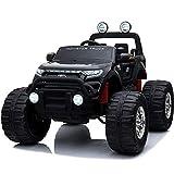 電動乗用カー 乗用ラジコン 大型 フォード モンスタートラック 4WD 電動乗用ラジコンカー 乗用玩具 電動カー 車のおもちゃ 乗物玩具 (BLACK)