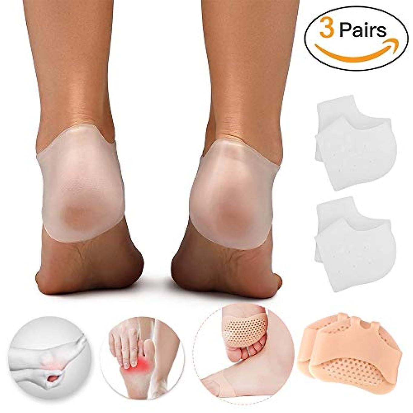 蜜水星パラメータかかとクッションスリーブプロテクター、足底筋膜炎、アキレス腱炎、かかとの痛み、中足骨gia神経腫、糖尿病性足の痛みを軽減するための女性と男性の中足骨パッド