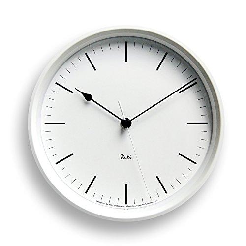 Lemnos RIKI STEEL CLOCK 電波時計 ホワイト WR08-24 WH