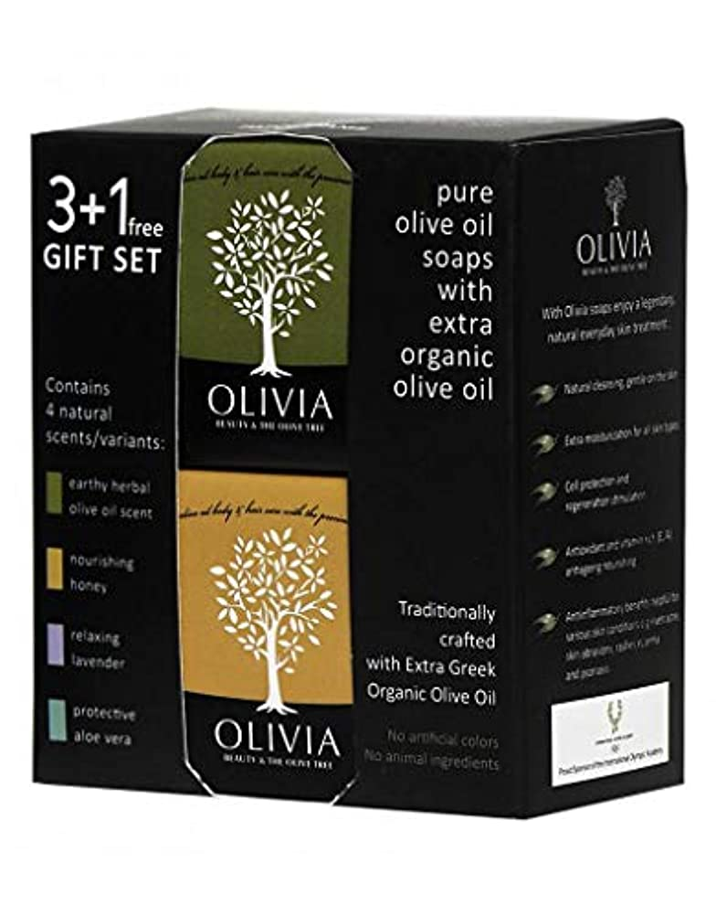 好み遅い荒廃するOlivia(オリビア) ナチュラルバーソープ 3+1フリーギフトセット