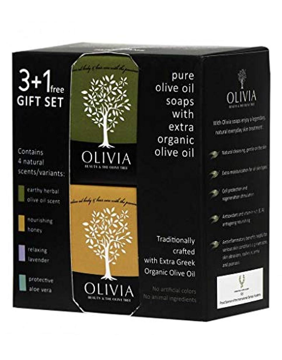 彼女カウンタ満了Olivia(オリビア) ナチュラルバーソープ 3+1フリーギフトセット