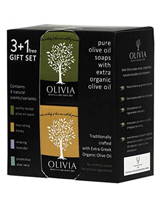 果てしない債務温室Olivia(オリビア) ナチュラルバーソープ 3+1フリーギフトセット
