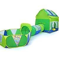 子供の遊びのテントトンネル赤ちゃん遊び家屋内遊園地簡単な折り畳みクロール (Color : Green, Size : 120 * 140 * 390cm)
