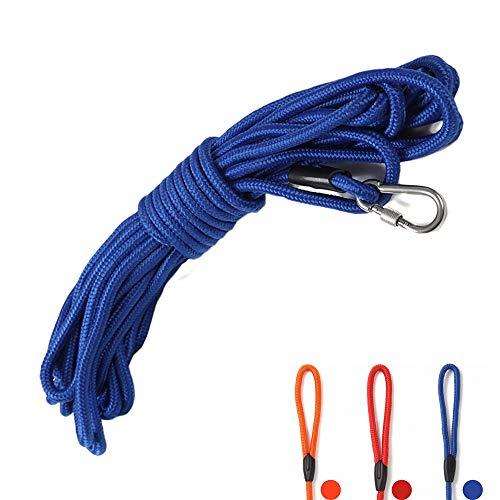 SRT 丸ロープ 軽量 ロングリード 中型犬 大型犬用 伸縮性抜群 絡みにくい 水に浮く頑丈なトレーニングリー...