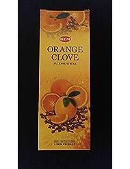 オレンジクローブ6ボックスの20 = 120裾Incense Sticksバルクケース小売表示ボックス