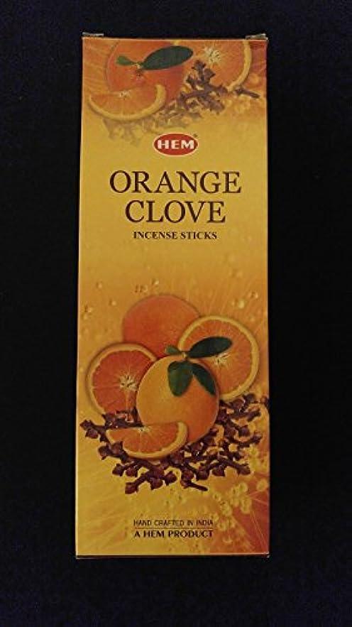 訴える変位思春期オレンジクローブ6ボックスの20 = 120裾Incense Sticksバルクケース小売表示ボックス