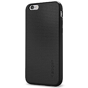 【Spigen】 iPhone6s ケース / iPhone6 ケース リキッド・アーマー [ ソフト TPU ] アイフォン6s / 6 用 米軍MIL規格取得 耐衝撃カバー (ブラック SGP11751)