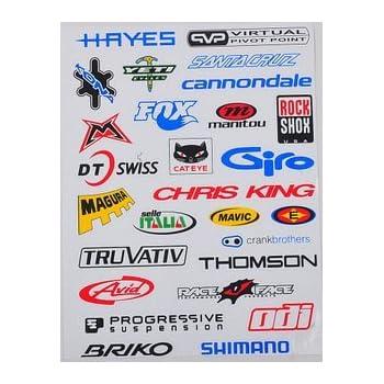 バイクブランド サイクルステッカー 自転車をオリジナルカスタムできるステッカー27種類セット