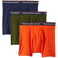 POLO RALPH LAUREN Classic Fit w/Wicking 3-Pack Boxer Briefs Cruise Navy/Nymph Green/Dusk Orange MD