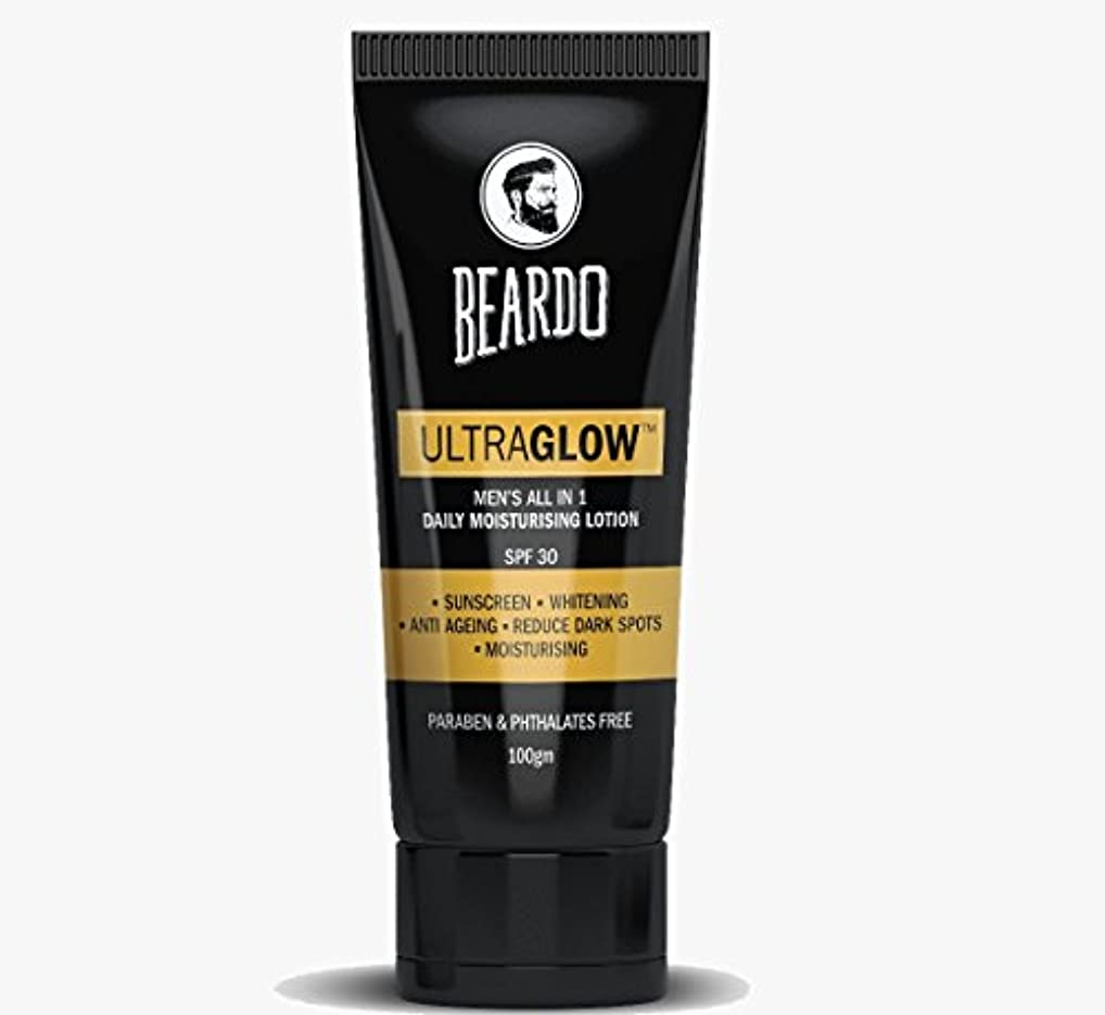 約設定非難統合するBEARDO Ultraglow Face Lotion for Men, 100g