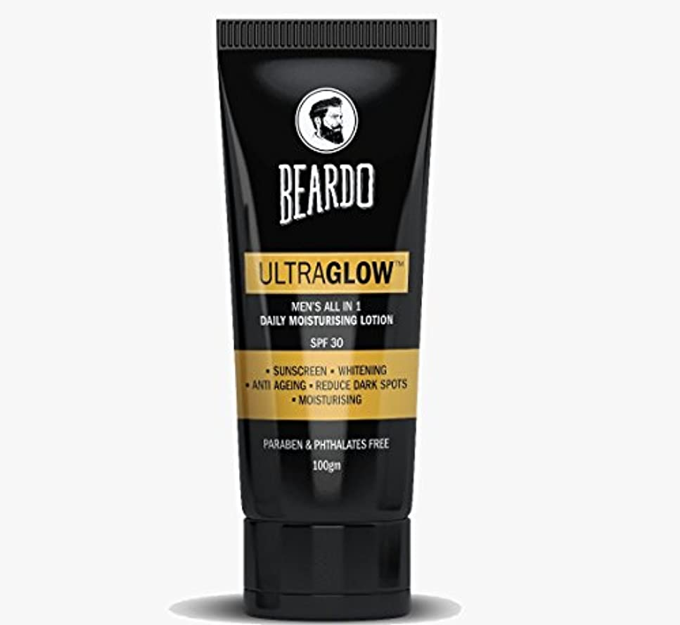 評決ガジュマルガムBEARDO Ultraglow Face Lotion for Men, 100g