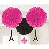 Amscan International 180185 A Day in Paris Fluffy Decoration Kit
