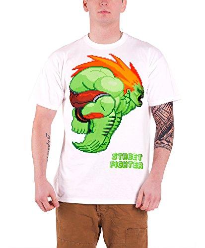 Streetfighter Blanka 公式 メンズ 新しい ホワイト T Shirt
