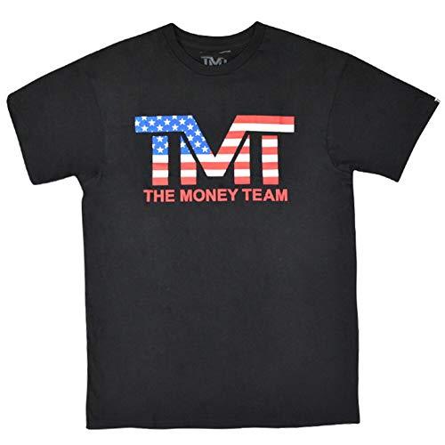 (ザ・マネーチーム) THE MONEY TEAM TMT 正規輸入品 MS113-K Tシャツ 黒ベース×アメリカ フロイド・メイウェザー・ジュニアコレクション Tシャツ メンズ 半袖 ボクシング アメリカ