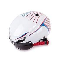 Frtheyh 2019 自転車用 ヘルメット 成人用 自転車用 ヘルメット 自転車用 安全 ヘルメット アウトドア用 サイクリング 愛好家用 サイクリング バックミラーがあるヘルメット (色 : ホワイト)