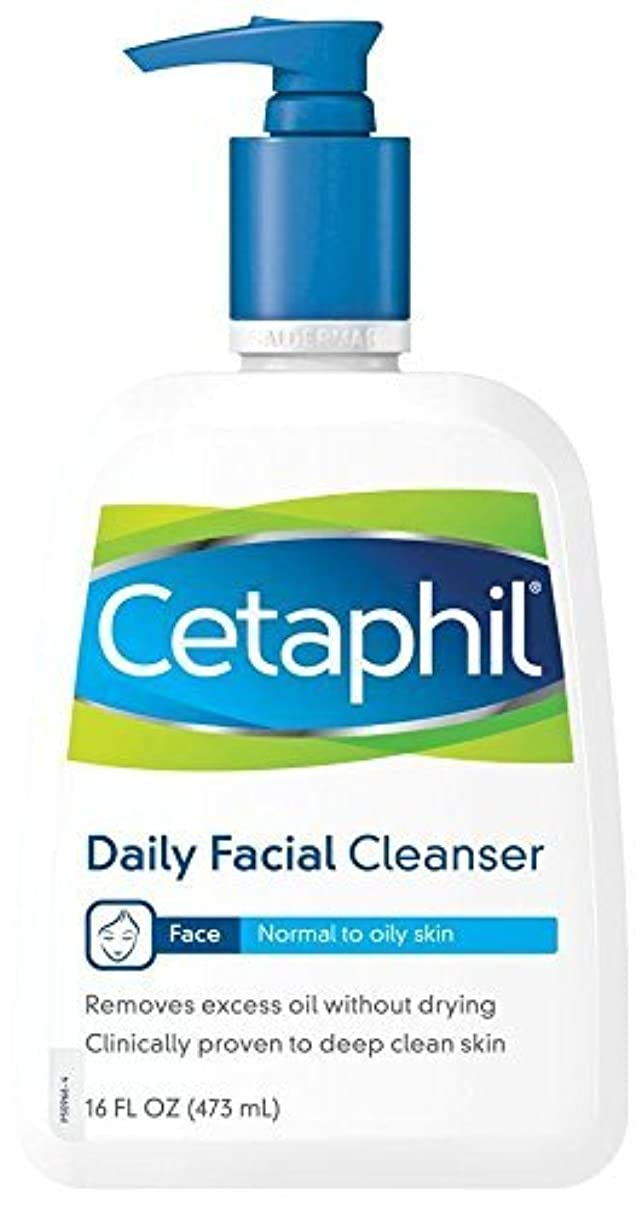 招待ゾーン抑止する海外直送品Cetaphil Cetaphil Daily Facial Cleanser For Normal To Oily Skin, 16 oz