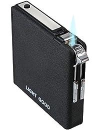 KIVORS シガレットケース 一台二役 ガスライター 20本収納 タバコケース 兼用 点火用 ライター KV05-061