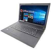 東芝 ノートPC B554/MS Office 2019付き/Win 10 Pro/15.6インチ/Core i3-40…