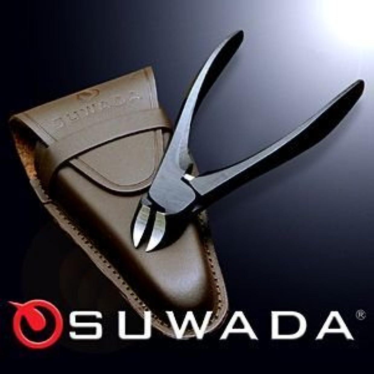 滅多ボリューム刈り取るSUWADA爪切りブラックL&革ケースセット 特注モデル 諏訪田製作所製 スワダの爪切り