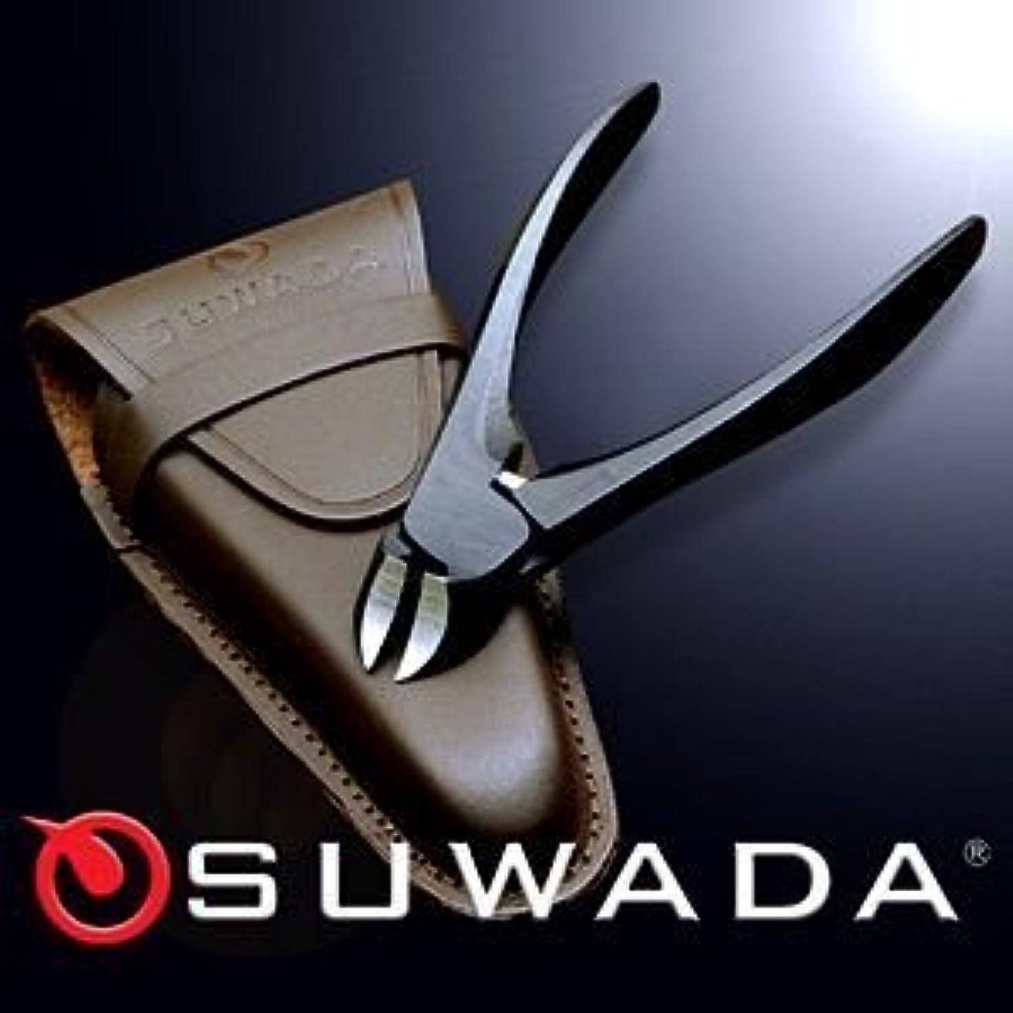 倫理作詞家縮れたSUWADA爪切りブラックL&革ケースセット 特注モデル 諏訪田製作所製 スワダの爪切り