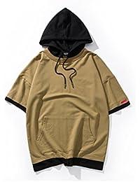 (モダンミス)Mordenmiss タンクトップ メンズ パーカー Tシャツ 無地 フード付き 袖なし 重ね着にも 春夏にぴったり かっこいい  シンプル M-XXL ブラック グレー カーキー グリーン