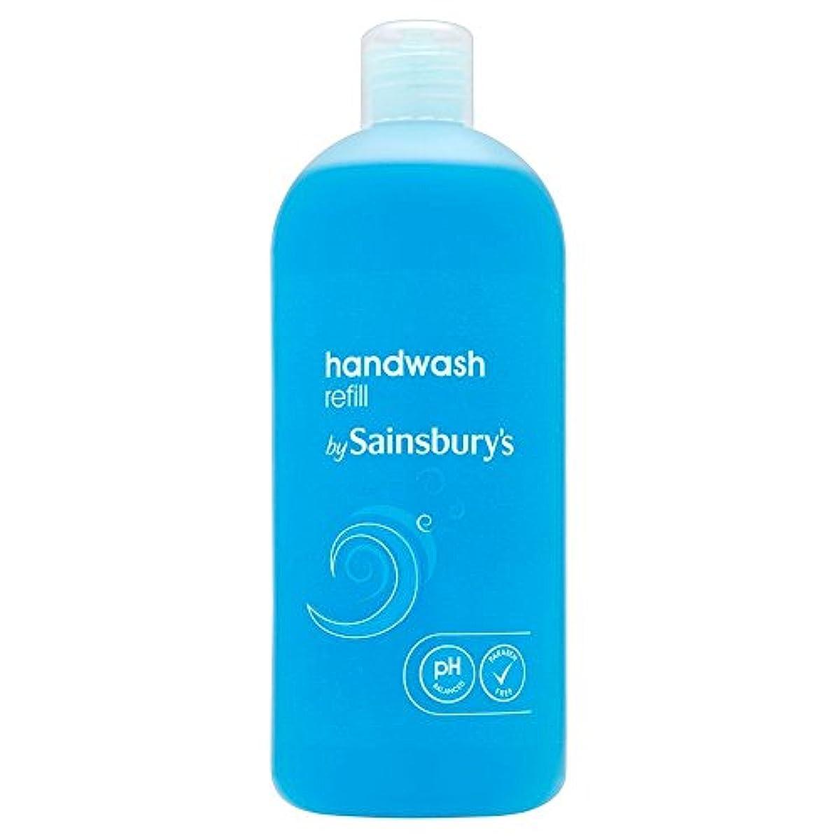 谷悩む和らげるSainsbury's Handwash, Blue Refill 500ml (Pack of 4) - (Sainsbury's) 手洗い、青のリフィル500ミリリットル (x4) [並行輸入品]