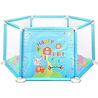 BSNOWF-ベビーサークル 200ボール、折り畳み式屋内屋外の安全な幼児/子供/子供のための再生ヤードとポータブルベビープレイペン (色 : 青)