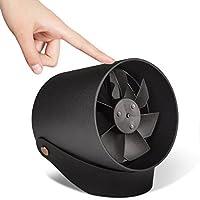 Mini USBテーブルファンqoosea VH Office Quiteタッチコントロールメタルフレームポータブルデスクファンデュアルモータードライバーファンのホームオフィス旅行2速度–ブラック