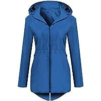 AL'OFA Womens Lightweight Windbreaker Jacekt Packable Outdoor Coat with Folded Hood