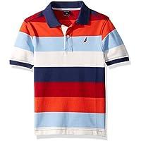 Nautica Boys' Short Sleeve Heritage Polo Shirt, RETRO BLUE, X-Large (18/20)