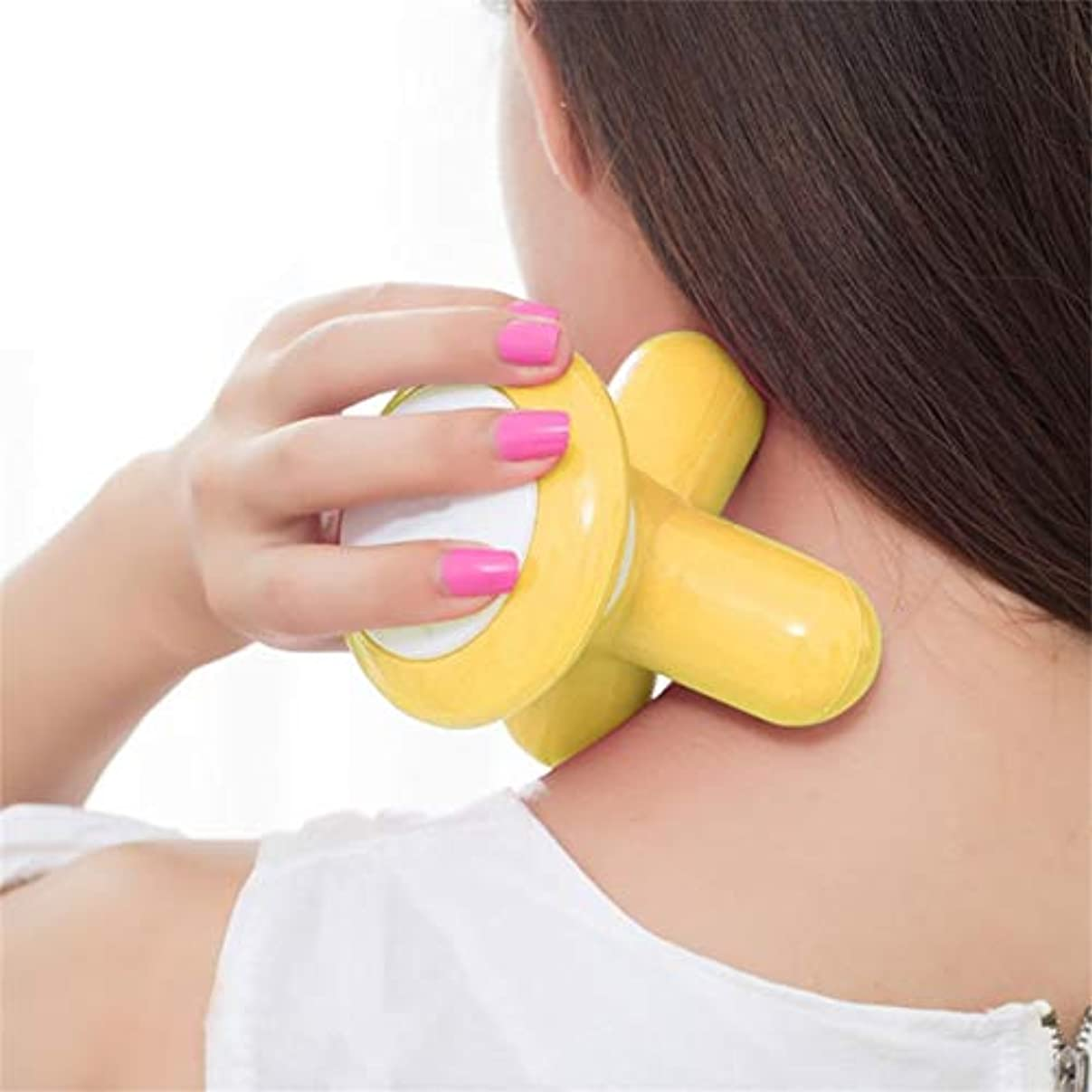 サンダー退屈させる透過性Mini Electric Handled Wave Vibrating Massager USB Battery Full Body Massage Ultra-compact Lightweight Convenient...