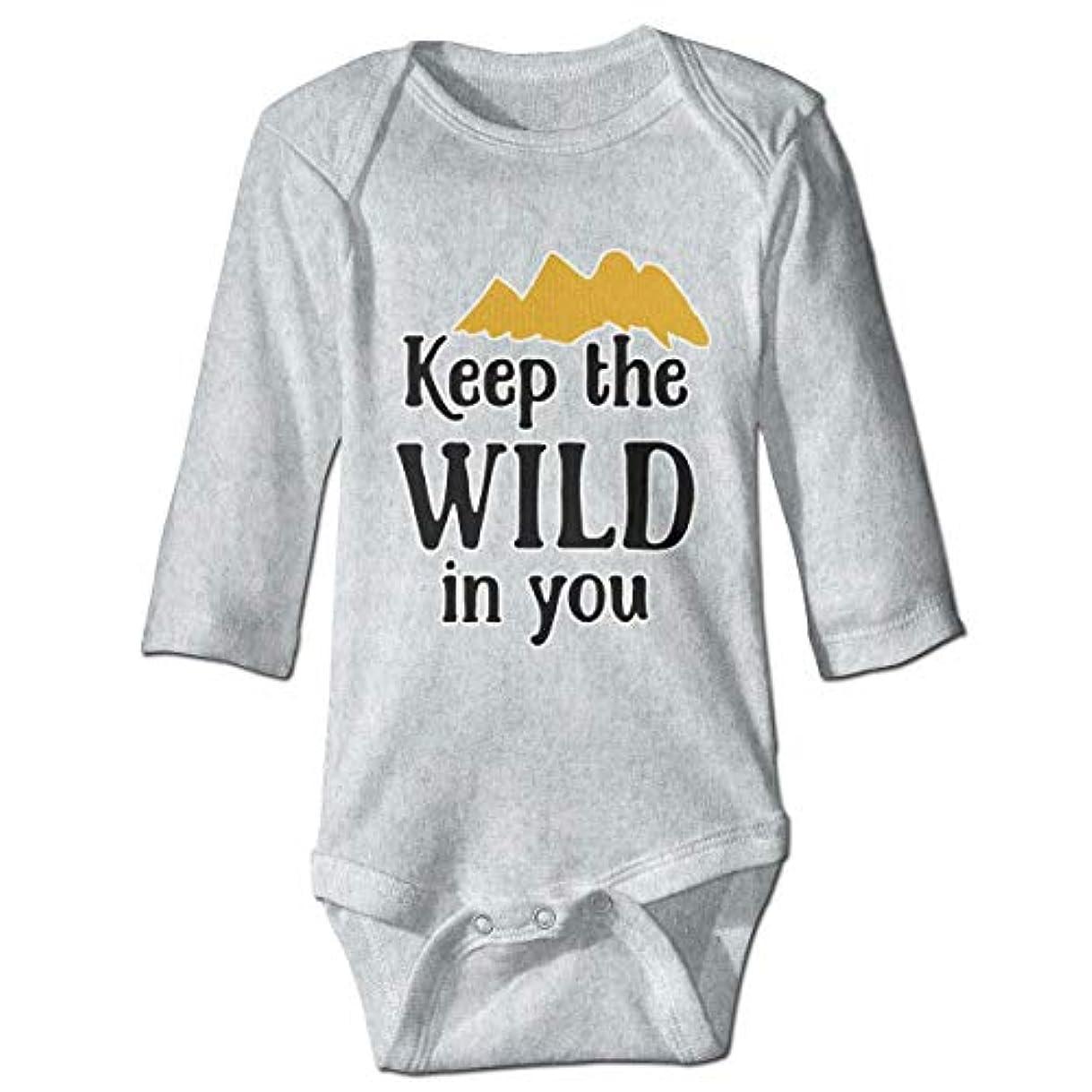 浴室不承認崇拝する赤ちゃんのボディースーツで素敵なOnesie長袖衣装コスチューム、6 Mで野生を保つ