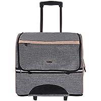 ROSE ABC ペット用3wayキャリーバッグ ペットキャリー 手提げ リュック ペットスーツケース 耐荷重約10kg 小型犬 大型猫対応 車載・旅行・帰省・通院・防災に大活躍 (グレー)