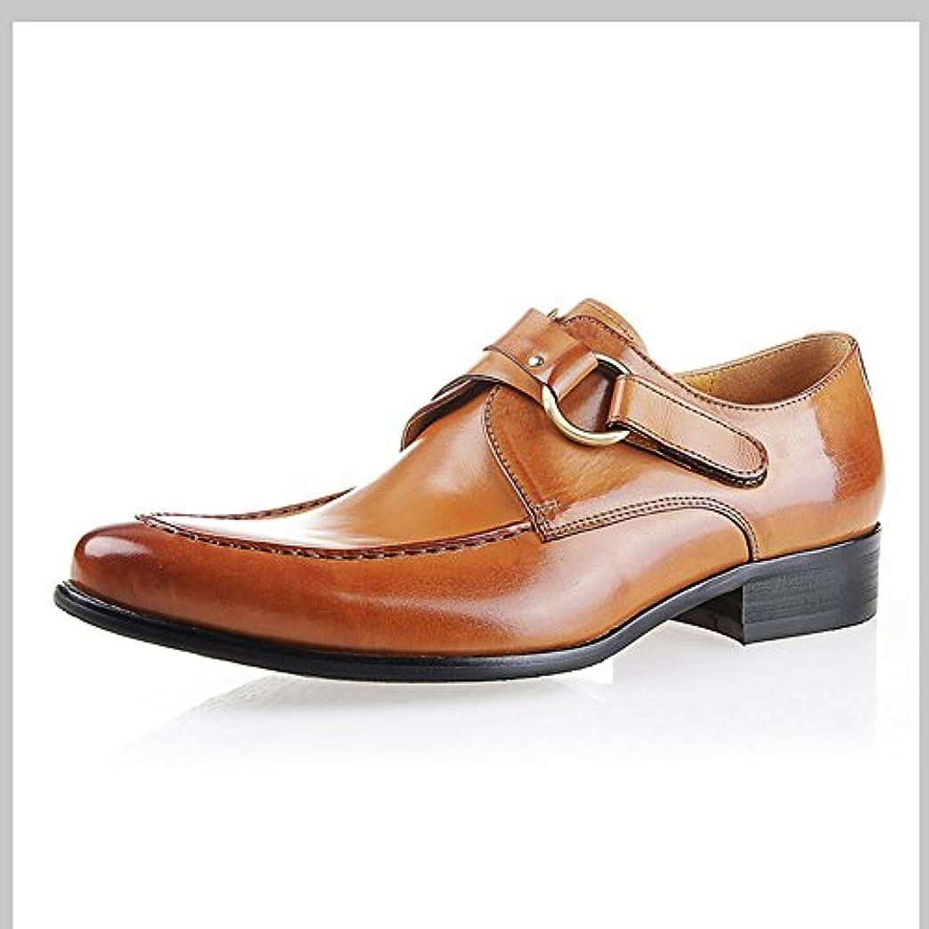 アジテーションリマーク伝説Fengbao モンクストラップ ビジネスシューズ メンズ 革靴 結婚式 靴 ロング 花見 ヒールアップ 男性用 紳士靴