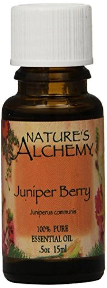 内なるバイバイ適用済みNature's Alchemy, Juniper Berry, Essential Oil, 0.5 oz (15 ml)