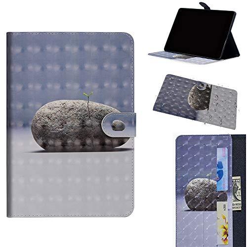 DodoBuy Samsung Galaxy Tab S4 10.5 ケース 3D 手帳型カバー 革 マグネット式ド収納 スタンド機能 財布型 カード収納 おしゃれ フリップ磁気閉鎖 ために Samsung Galaxy Tab S4 10.5 - 石