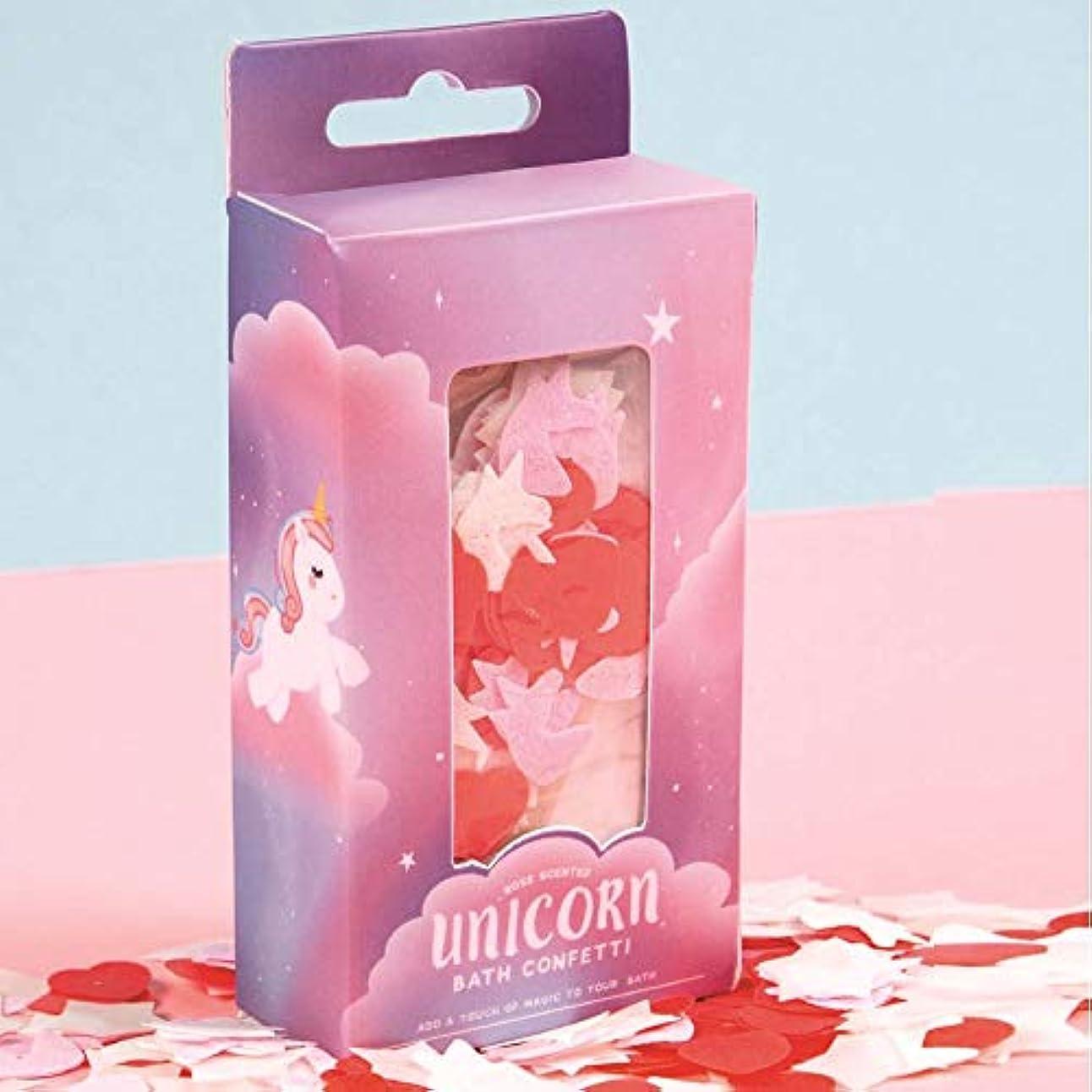 封建場合即席バラの香りのよいユニコーンバス紙吹雪