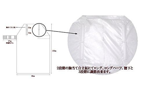 3段階に長さを変えられる軽量・耐油・耐水エプロン(業務用・介護用)