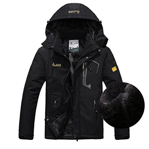 ウィンドブレーカー ジャケット マウンテンパーカー アウトドア キャンプ ブラック(男) XL