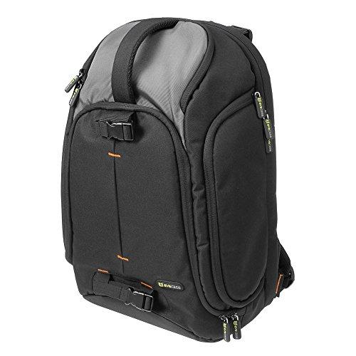 Evecase DSLRカメラバックパックwith Laptop Compartment forデジタルカメラ、レンズキット、ラップトップ、三脚アクセサリー