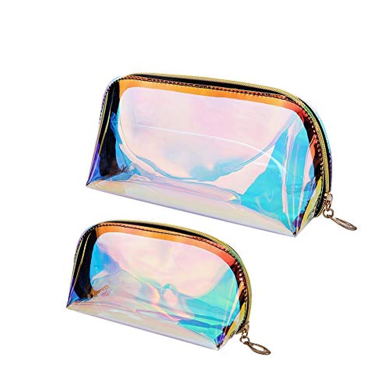 信念アーネストシャクルトン今後Xiton 化粧多色ホログラフィック化粧バッグ化粧ハンドヘルドクリアをクリア化粧品袋大容量の洗濯袋二つの大きなトランペット