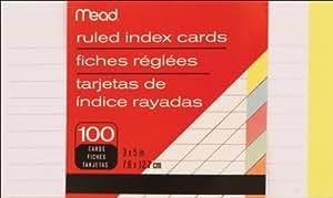 "Index Cards 3""X5"" 100/Pkg-Ruled Assorted Colors (並行輸入品)"