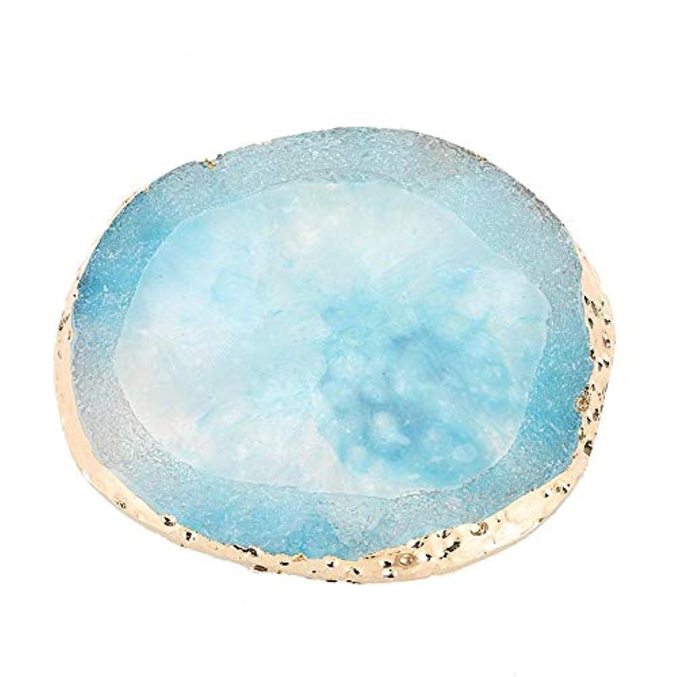 太平洋諸島和らげるバンジージャンプ樹脂ネイルアートパレットペイントデッサンネイルDIYツール(青)