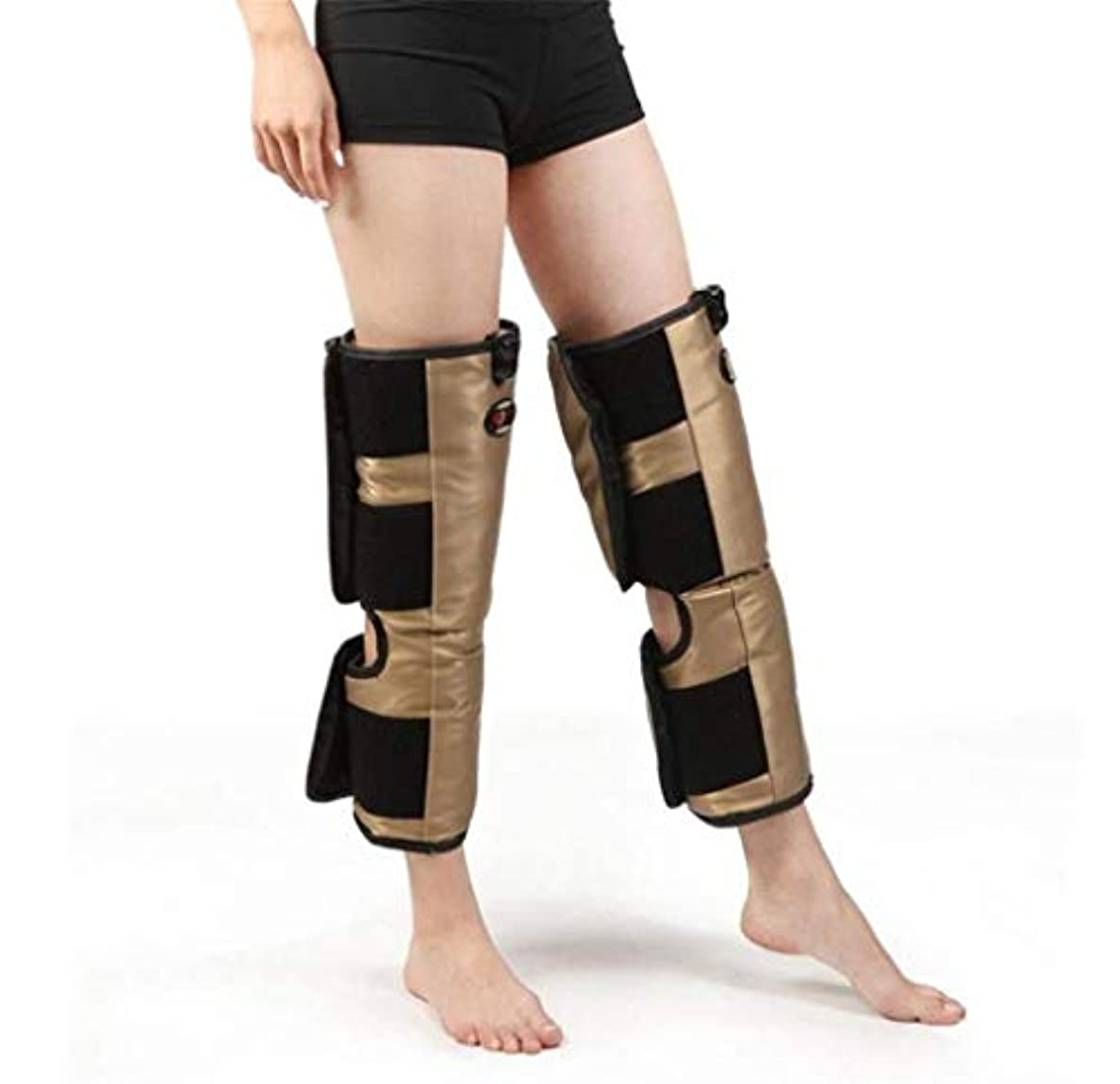 火薬評論家不適脚マッサージャー、電気膝ブレース、oxiホット圧縮振動マッサージ療法、多機能電気加熱膝理学療法機器