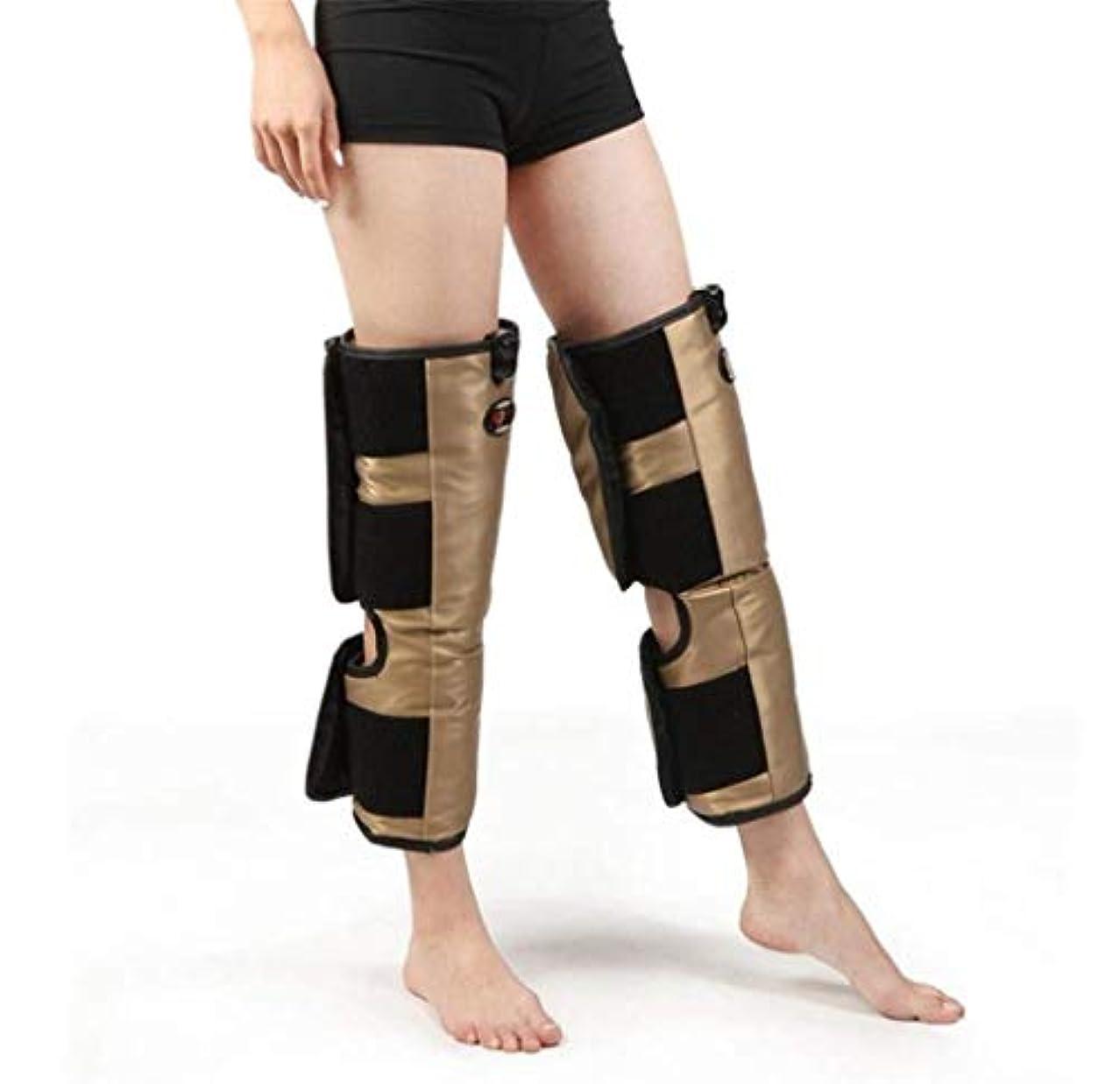 アボート裏切りピッチャー脚マッサージャー、電気膝ブレース、oxiホット圧縮振動マッサージ療法、多機能電気加熱膝理学療法機器