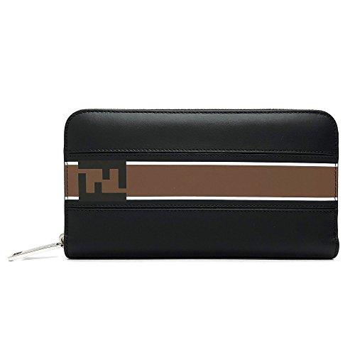 [フェンディ]FENDI 財布 メンズ 7M0210 A1R2 F0X93 ラウンドファスナー長財布 ブラック ブラウン [並行輸入品]