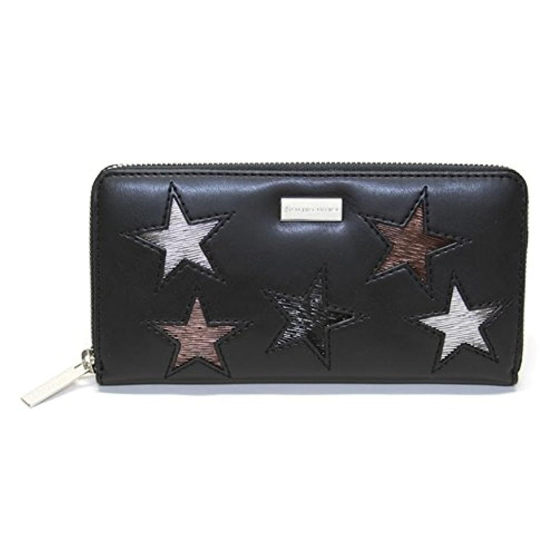 ステラマッカートニー STELLA McCARTNEY 431020 W8141 1000 スター 星型パッチワーク ラウンドファスナー長財布 Wallet Eco Alter Nappa Multicolor Stars...