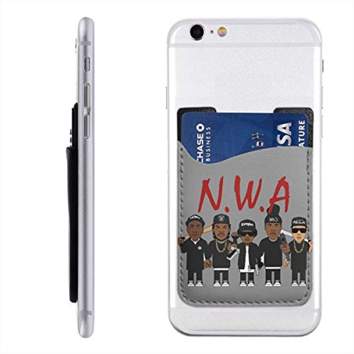 理論ローラー十億NWA オリジナル エヌ ダブリュ エー ヒップホップ グループ スマートフォン ポケット 背面 薄型 便利 背面カードホルダー 名刺入れ スマホケース カード収納 全機種対応