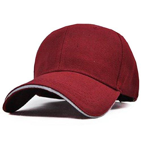 ONE LIMITATION(ワン リミテーション) ツバライン ベースボール 無地 キャップ 帽子 メンズ レディース (14.ワインレッド)
