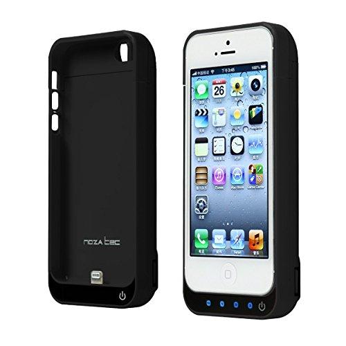 Noza Tec iPhone5 5S 5C SE 専用 バッテリー内蔵ケース 4200Mah 大容量 選べる6色 (黒)